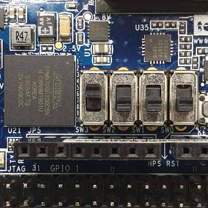 DE10 Nano SW3 Switch3 Location