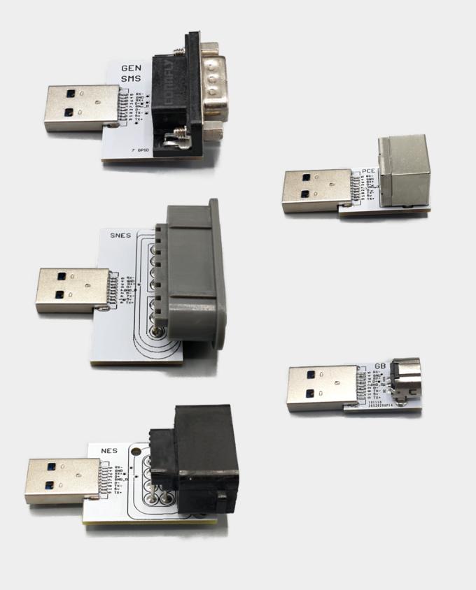 Genesis SMS SNES MegaDrive Gameboy NES MiSTer SNAC Adapters